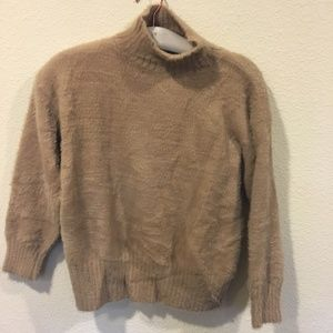 Goodnight Macaroon Sweaters - Goodnight Macaroon 'Jazmin' fuzzy camel sweater